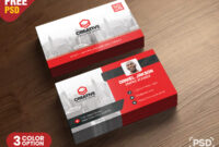 Corporate Business Card Psd Template – Psd Zone in Calling Card Psd Template