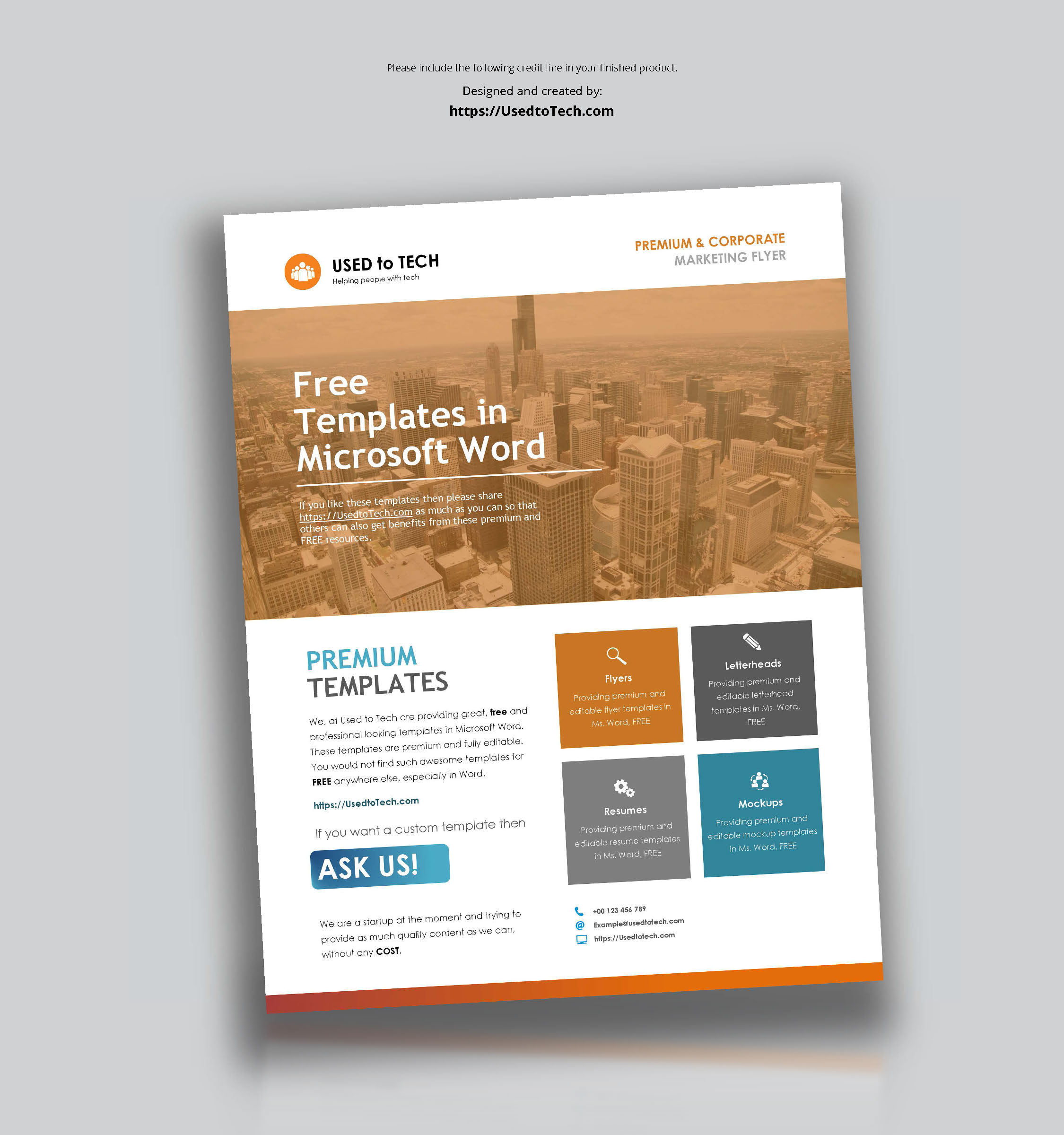 Corporate Flyer Design In Microsoft Word Free - Used To Tech For Templates For Flyers In Word