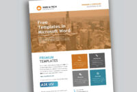 Corporate Flyer Design In Microsoft Word Free - Used To Tech throughout Free Business Flyer Templates For Microsoft Word