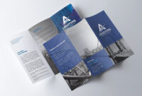 Corporate Tri-Fold Brochure – Psd Template – Free Psd Flyer intended for 3 Fold Brochure Template Psd