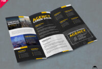 Corporate Trifold Brochure Template Free Psd – Pixelsdesign with Product Brochure Template Free