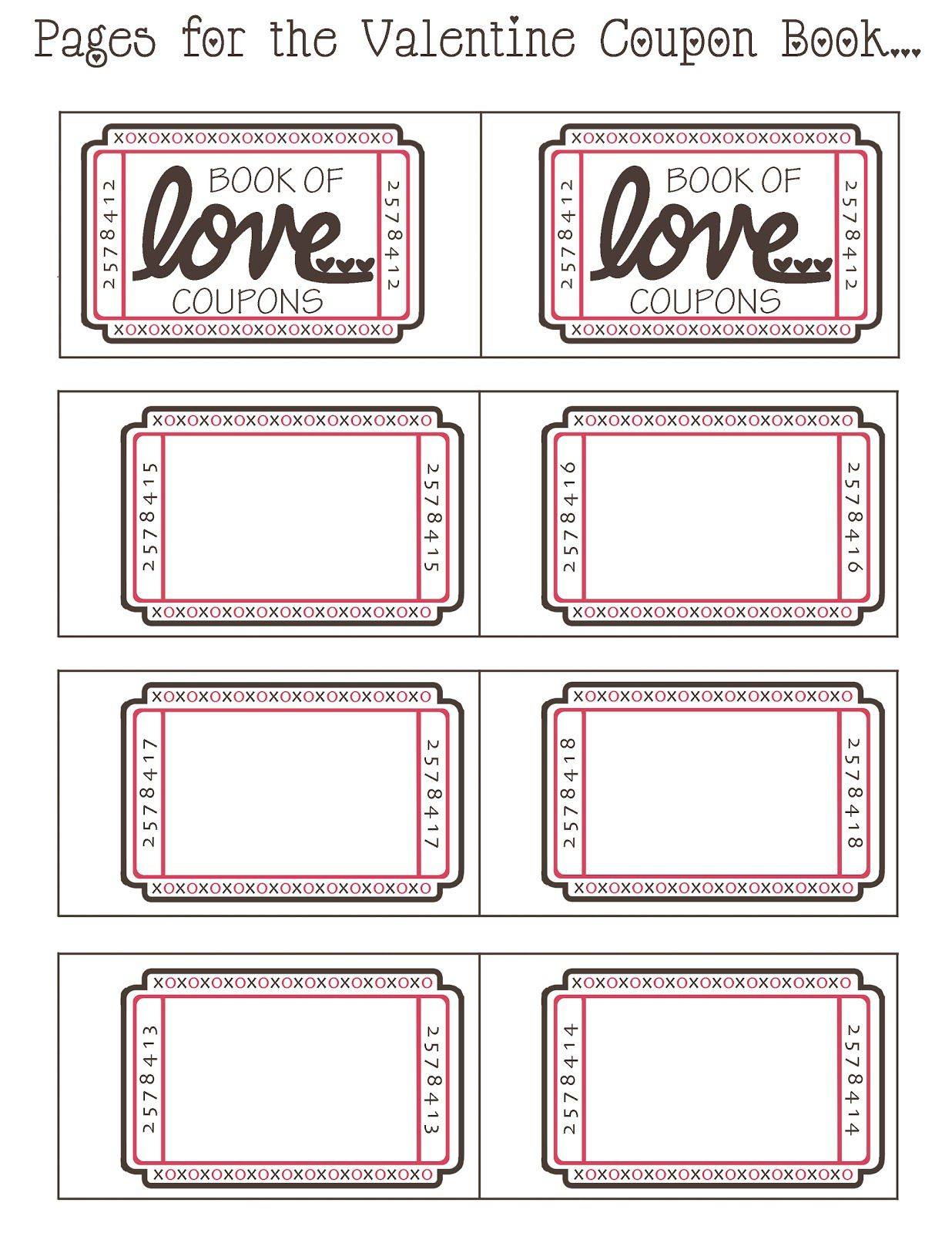 Coupon Book Ideas For Husband. Blank Love Coupon Templates In Love Coupon Template For Word