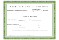 Course Completion Certificate Template | Certificate Of in Certificate Template For Project Completion