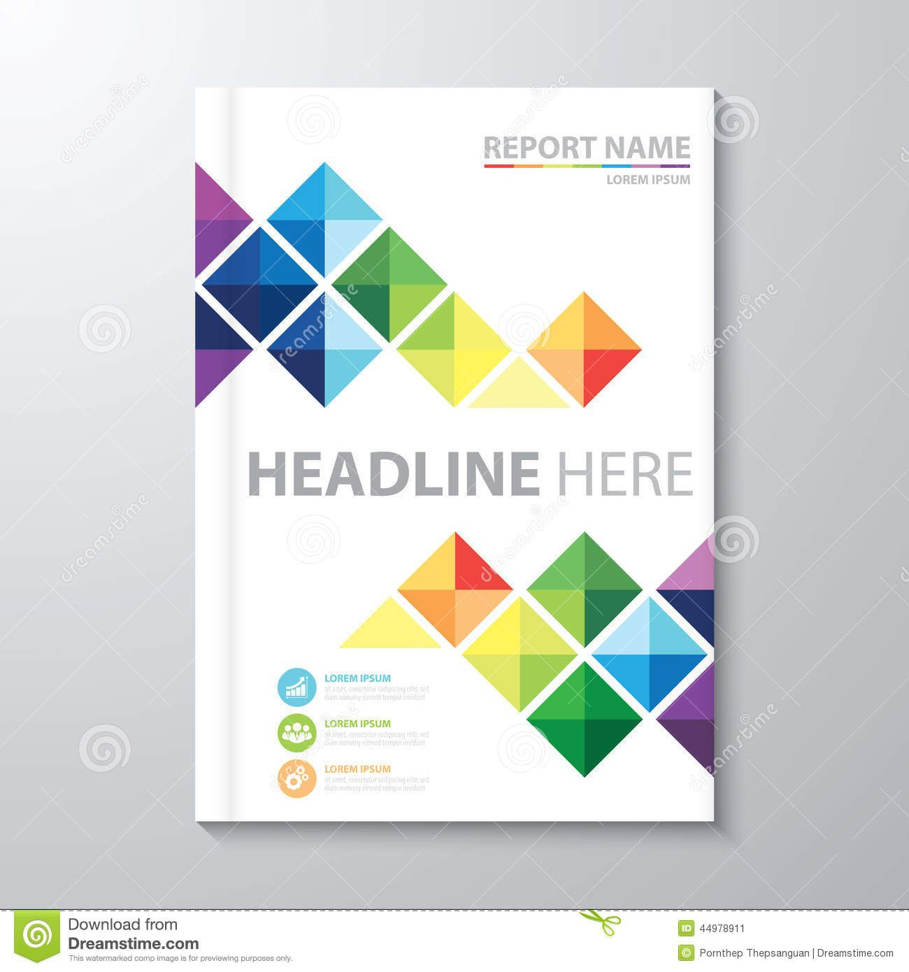 Cover Annual Report Stock Vector. Illustration Of Artwork Pertaining To Word Report Cover Page Template
