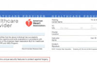 Cpr Certification Lookupname New American Heart in Cpr Card Template