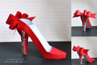 Crafting In The Night: 3D High Heel Shoe – Svgcuts | 3D inside High Heel Template For Cards