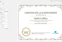 Create A Certificate Of Recognition In Microsoft Word regarding Certificate Of Recognition Word Template