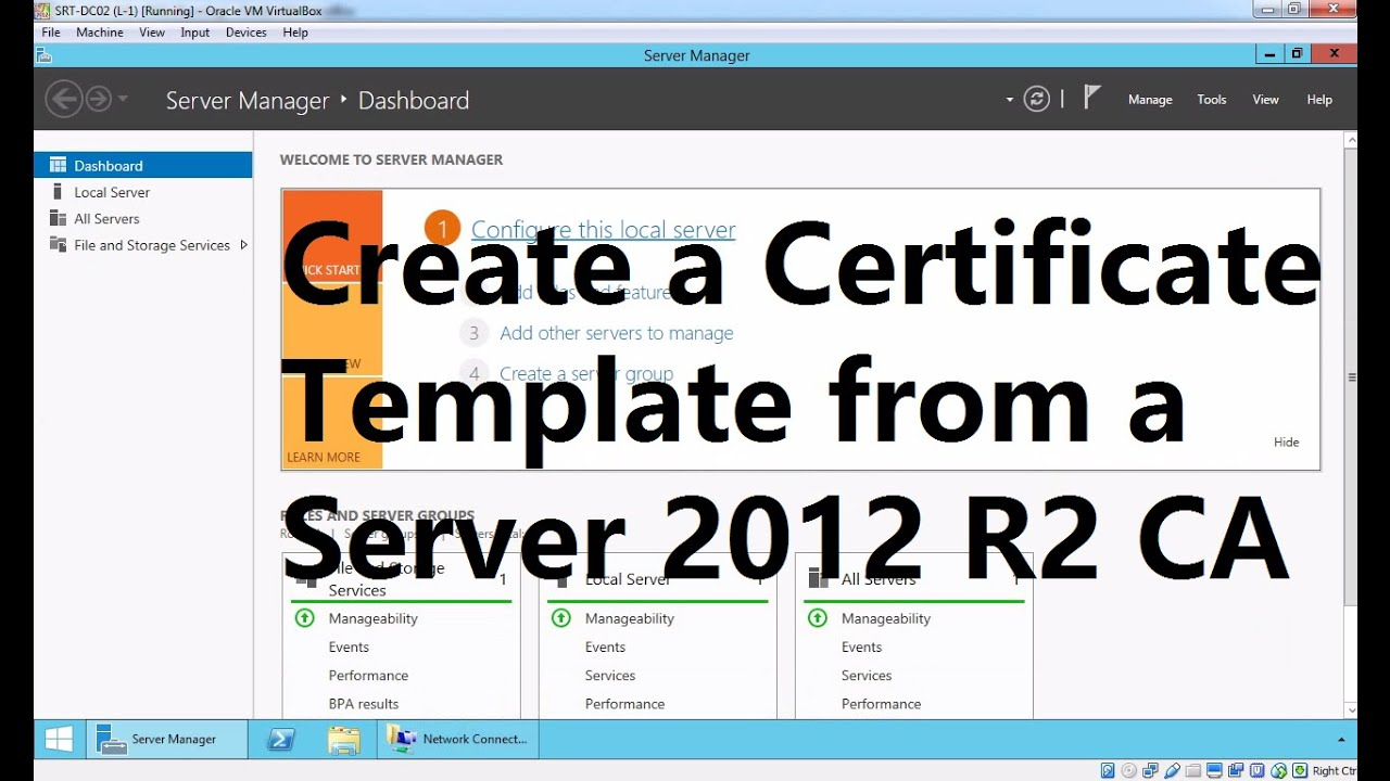 Create A Certificate Template From A Server 2012 R2 Certificate Authority Pertaining To Certificate Authority Templates