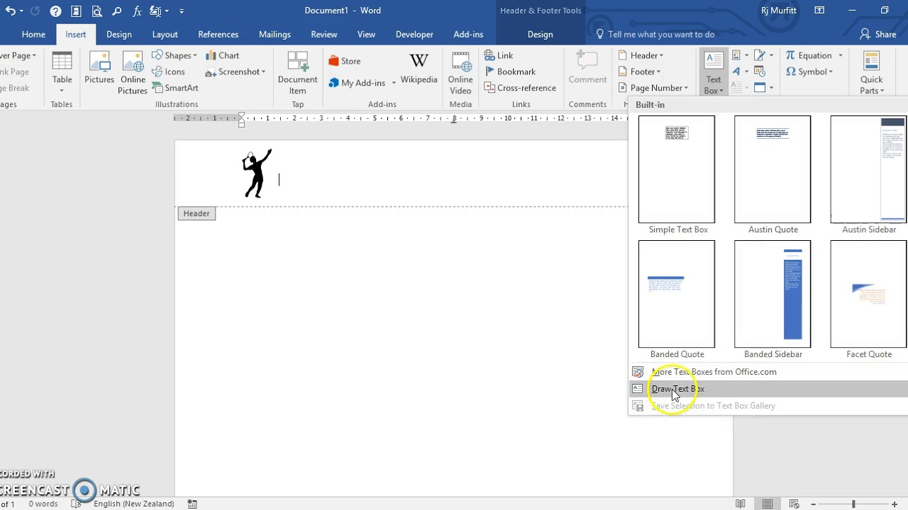 Create A Letterhead Template In Microsoft Word 2016 Regarding How To Create A Letterhead Template In Word