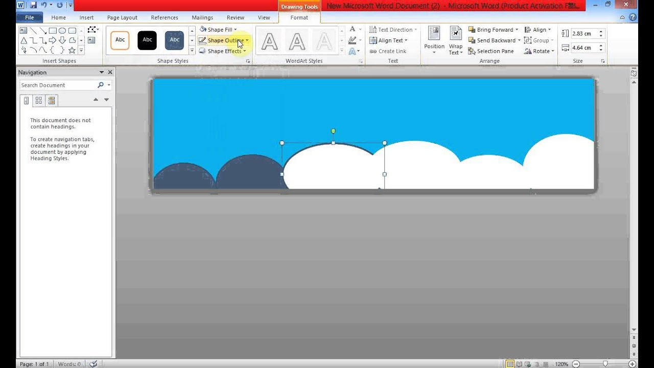 Create Banner Using Ms Word Within Banner Template Word 2010