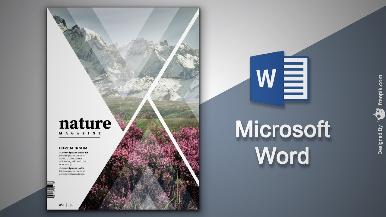 Create Cover Page In Microsoft Word | Natural Magazine Cover Designing In  Ms Word For Magazine Template For Microsoft Word