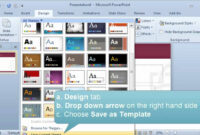 Creating And Setting A Default Template Or Theme In Powerpoint inside What Is A Template In Powerpoint