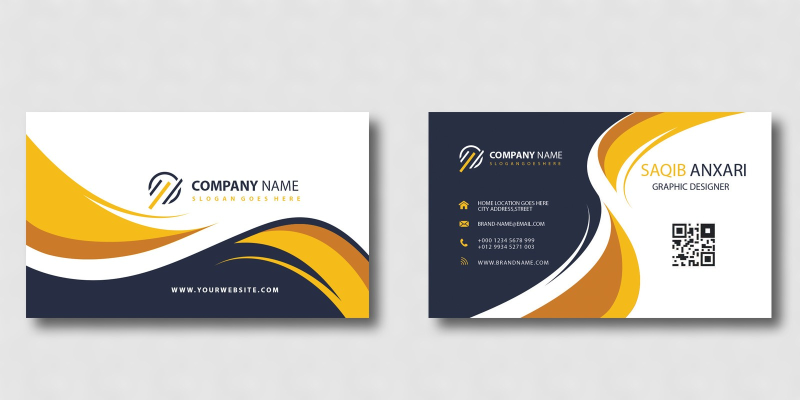 Creative Business Card Template With Buisness Card Template