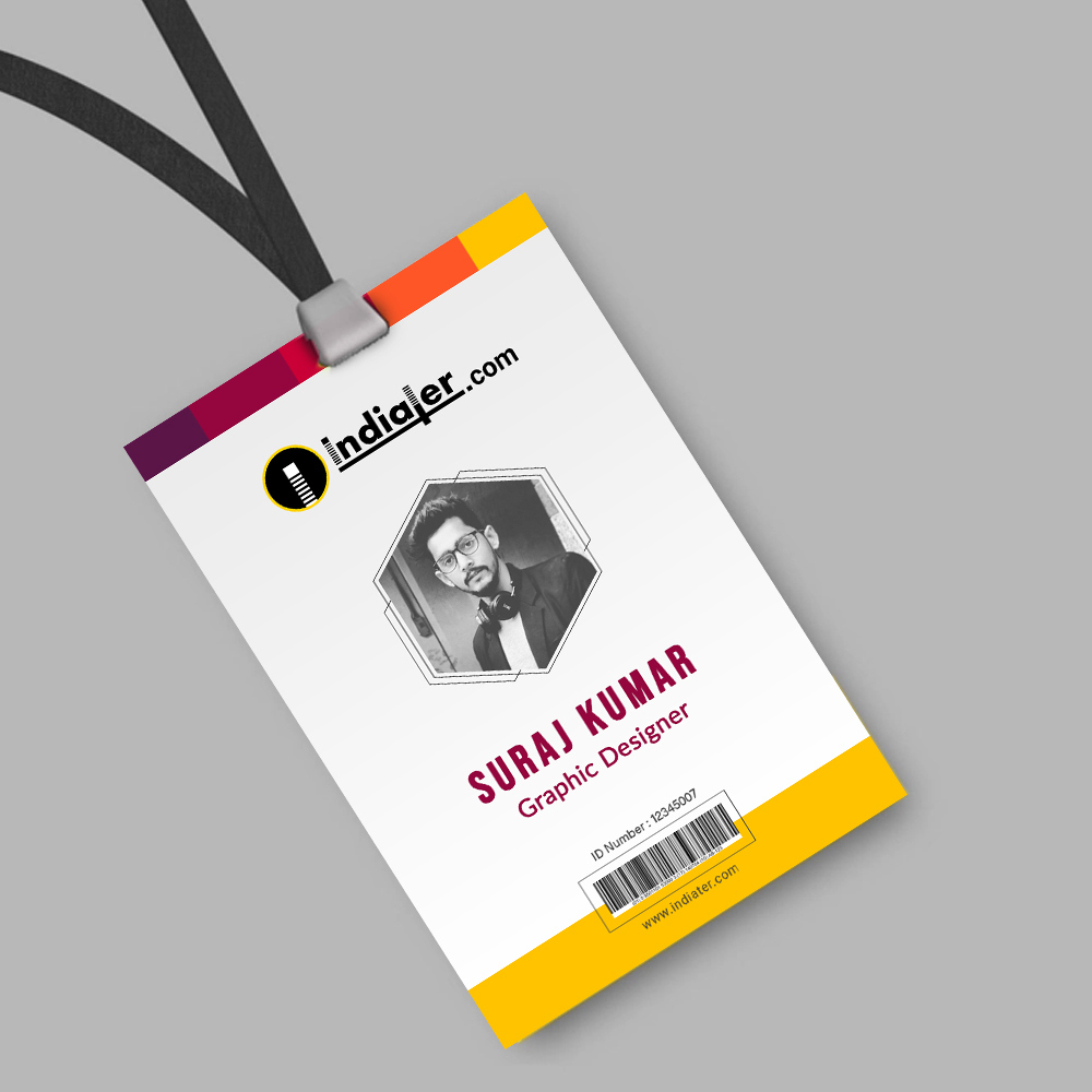 Creative Corporate Official Id Card Template Psd Free - Indiater For Photographer Id Card Template