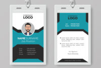 Creative Employee Id Card Template within Template For Id Card Free Download