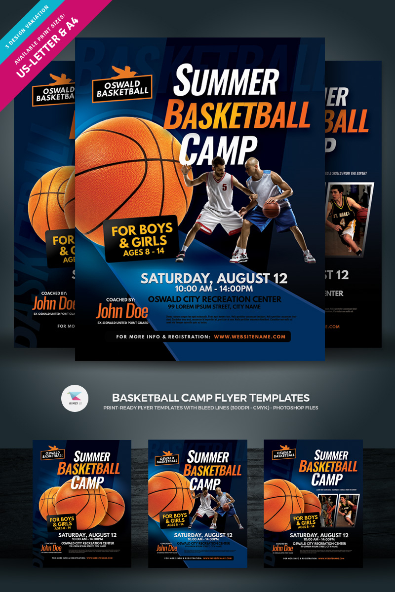 Creative Ready Made Sports Camp Flyer Templates | Entheosweb With Basketball Camp Brochure Template