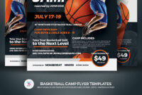 Creative Ready Made Sports Camp Flyer Templates | Entheosweb within Basketball Camp Brochure Template