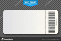 Creative Vector Illustration Of Empty Ticket Template Mockup intended for Blank Train Ticket Template