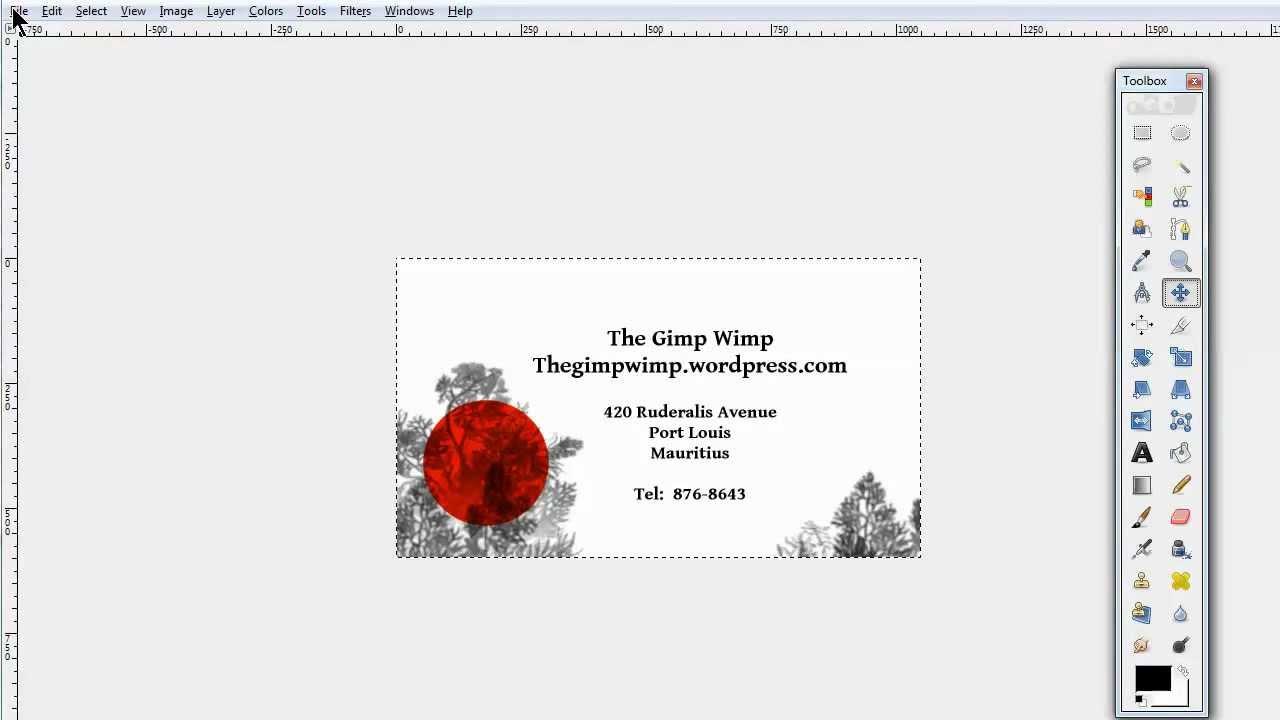 Custom Business Card In Gimp 2.8The Gimpwimp With Regard To Gimp Business Card Template