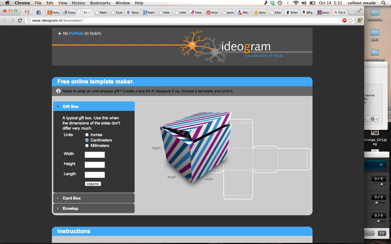 Custom Size Gift Box Template Generator Www.ideogram.nl With Regard To Card Box Template Generator