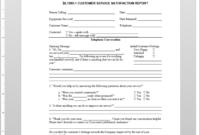 Customer Service Satisfaction Report Template | Sl1090-1 in Technical Service Report Template