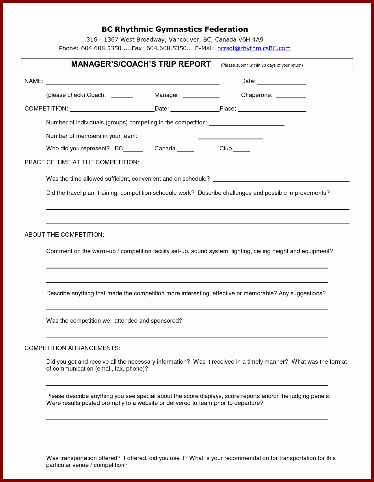 Customer Visit Report Template Free Download With Regard To Customer Visit Report Template Free Download