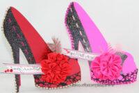 Cute High Heel Shoe D Cards | Digibless inside High Heel Template For Cards
