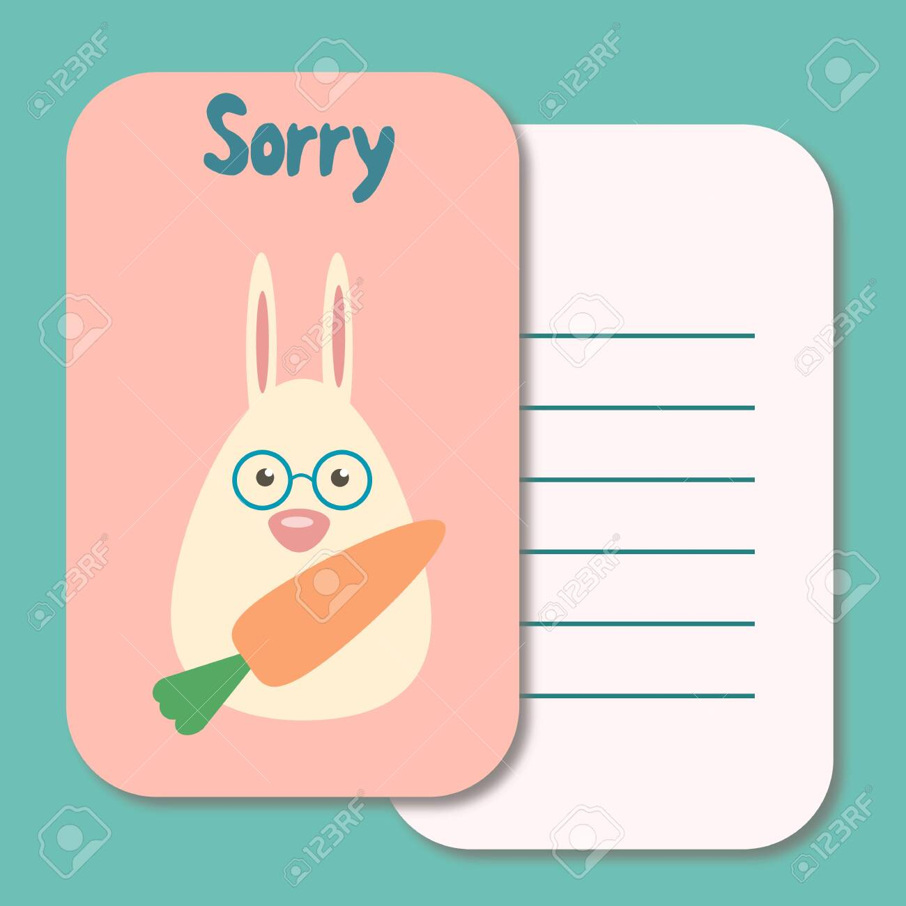 Cute Printable Illustration Sorry Card Typography Design Background.. With Sorry Card Template