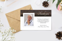 Dad's Funeral Thank You Cards. Printable Sympathy Thank You With Photo,  Editable Digital Download with regard to Sympathy Thank You Card Template