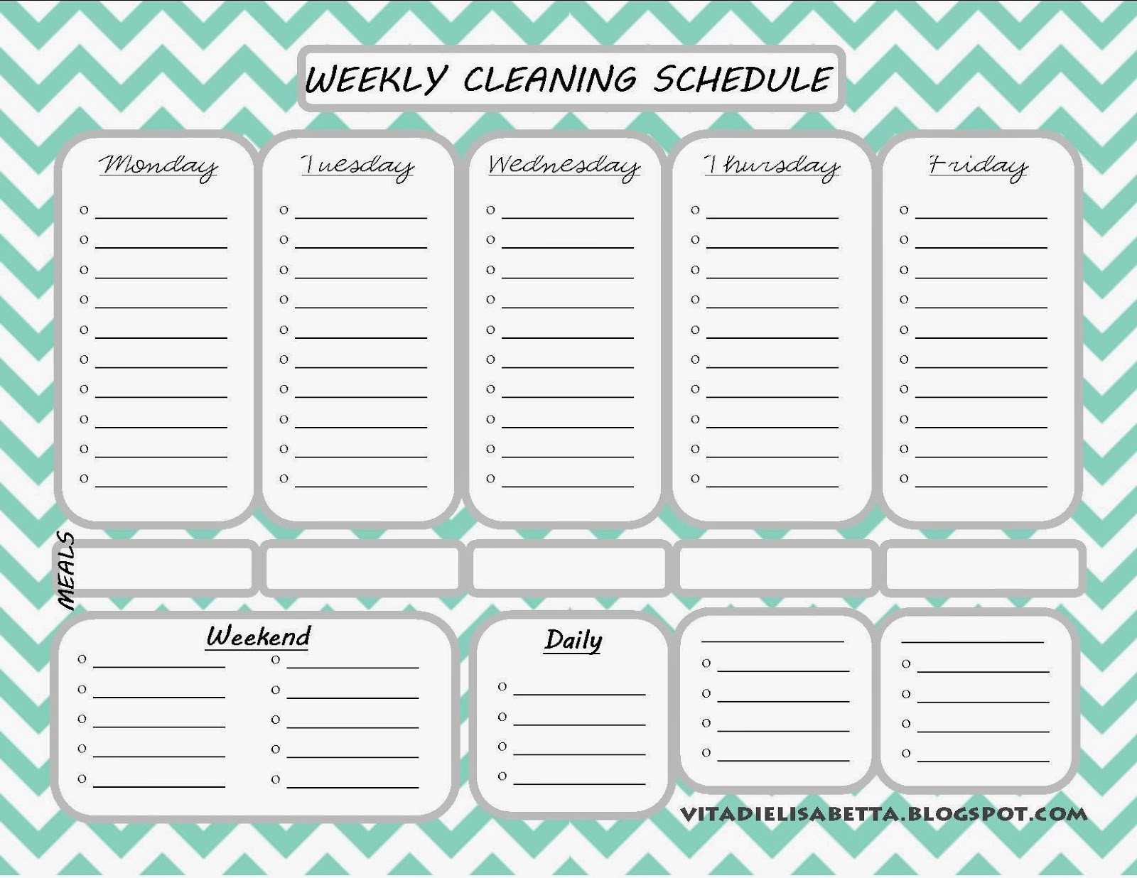 Daily Cleaning Schedule Template – Www.toib.tk Throughout Blank Cleaning Schedule Template