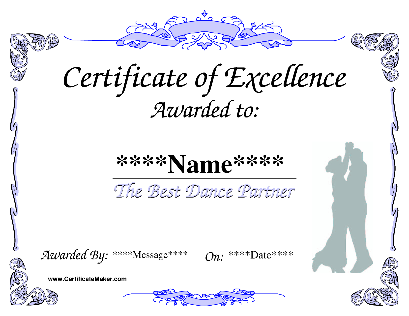 Dance Award Certificate Template | Places To Visit | Award Inside Dance Certificate Template