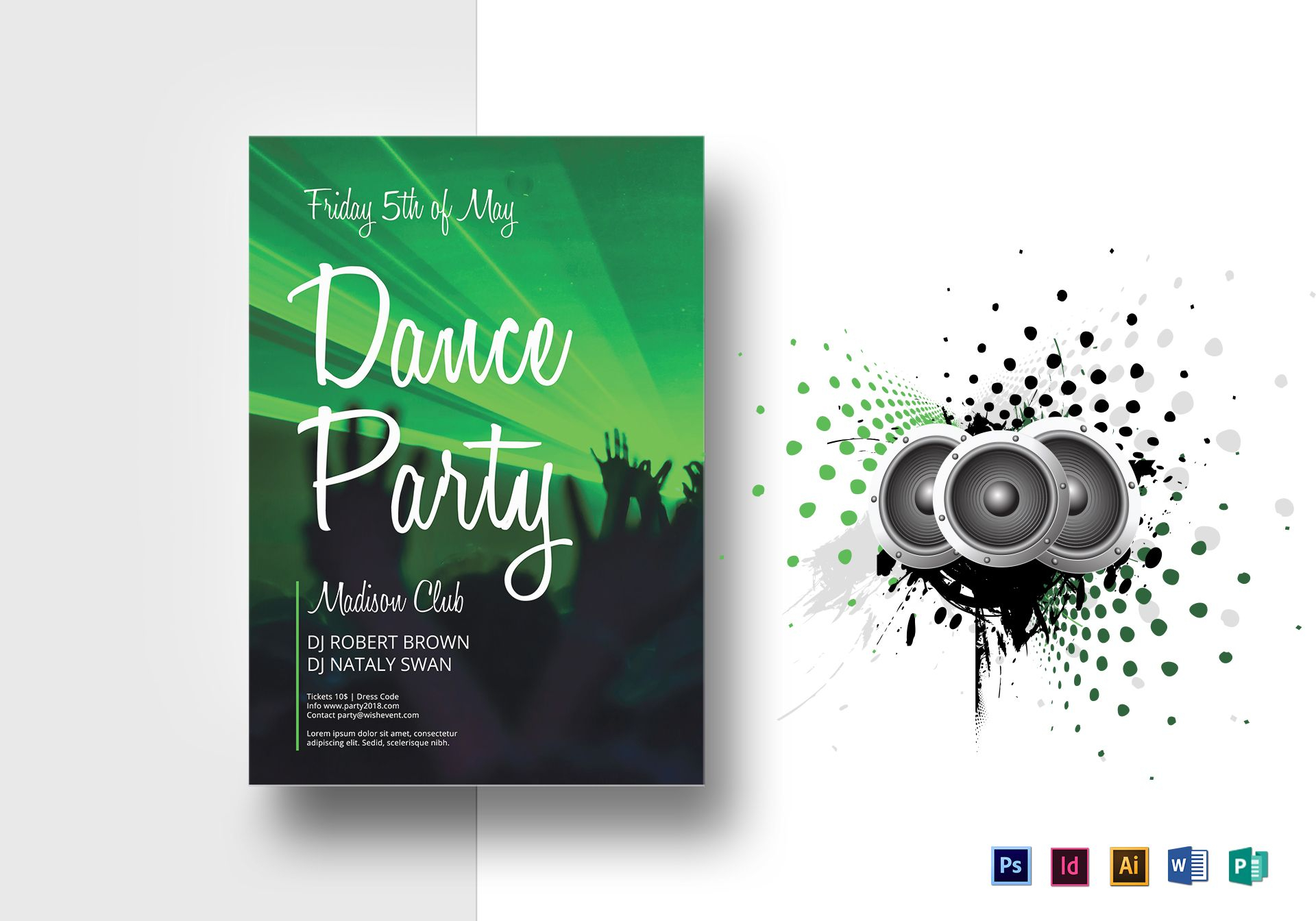 Dance Party Flyer Template In Dance Flyer Template Word