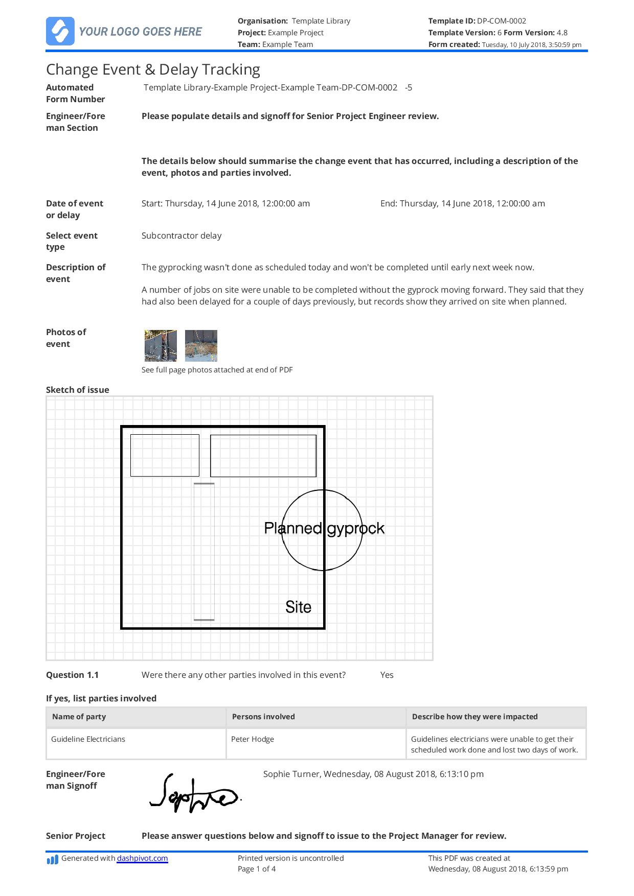 Delay Analysis Report Template: Use This Template For Free Now Throughout Project Analysis Report Template