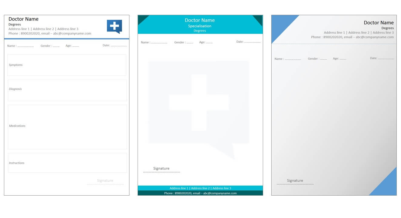 Designs For Medical Prescription Template – Indoclinic Blog With Regard To Doctors Prescription Template Word