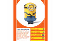 Details About Despicable Me 3 Top Trumps Card Game with Top Trump Card Template