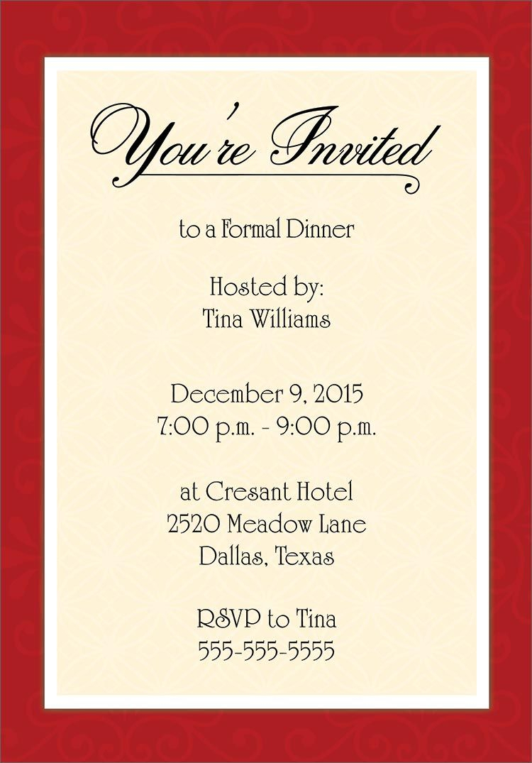 Dinner Invitation Template Free | Places To Visit | Birthday With Free Dinner Invitation Templates For Word