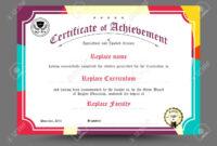 Diploma Certificate Template Design. Vector Illustration. for Design A Certificate Template