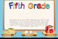 Diploma Template For Fifth Grade Students within 5Th Grade Graduation Certificate Template