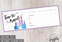 Disney Gift Certificate Printable, Thanksgiving Christmas inside Kids Gift Certificate Template