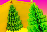 Diy 3D Christmas Tree Pop-Up Card – Greeting Card regarding 3D Christmas Tree Card Template