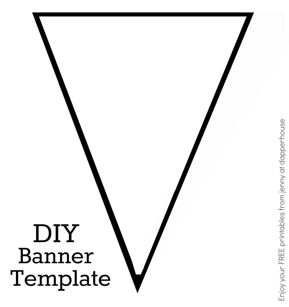 Diy Banner Template Free Printable From Jenny At Dapperhouse With Regard To Diy Banner Template Free