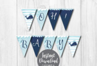 Diy Editable Yourself, Printable Banner Template, Baby Shower Banner  Printable, Baby Shower Banner Girl, Baby Shower Banner Boy, Pdf File inside Diy Baby Shower Banner Template