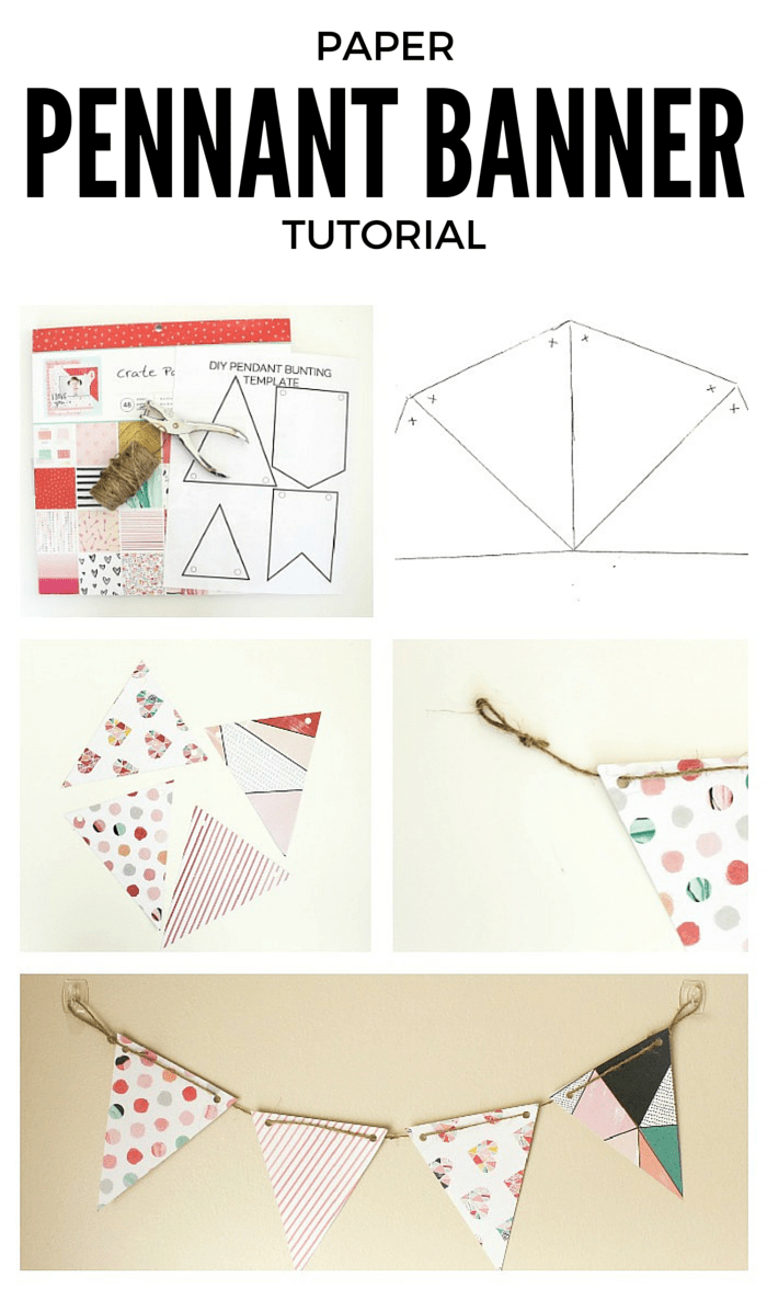 Diy Paper Pennant Banner (W/ Free Template) - Mommy Suite With Homemade Banner Template