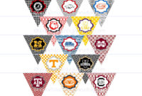 Diy Printables! Pennants Collegiate Tailgate Digital within College Banner Template