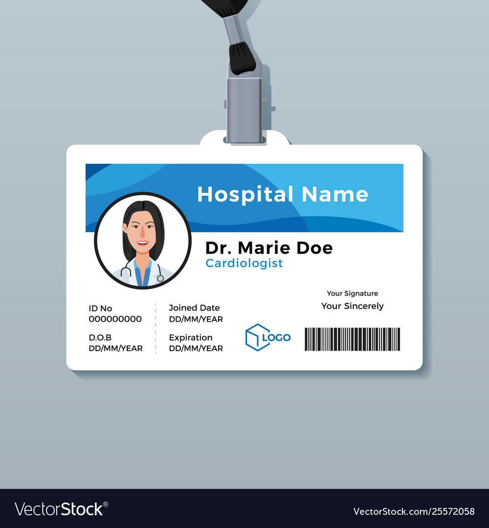 Doctor Id Card Medical Identity Badge Template For Doctor Id Card Template