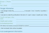Donation Form Template | Excel & Word Templates pertaining to Donation Card Template Free