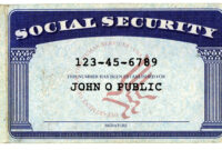 Don't Give Your Social Security Number At These Places throughout Social Security Card Template Photoshop
