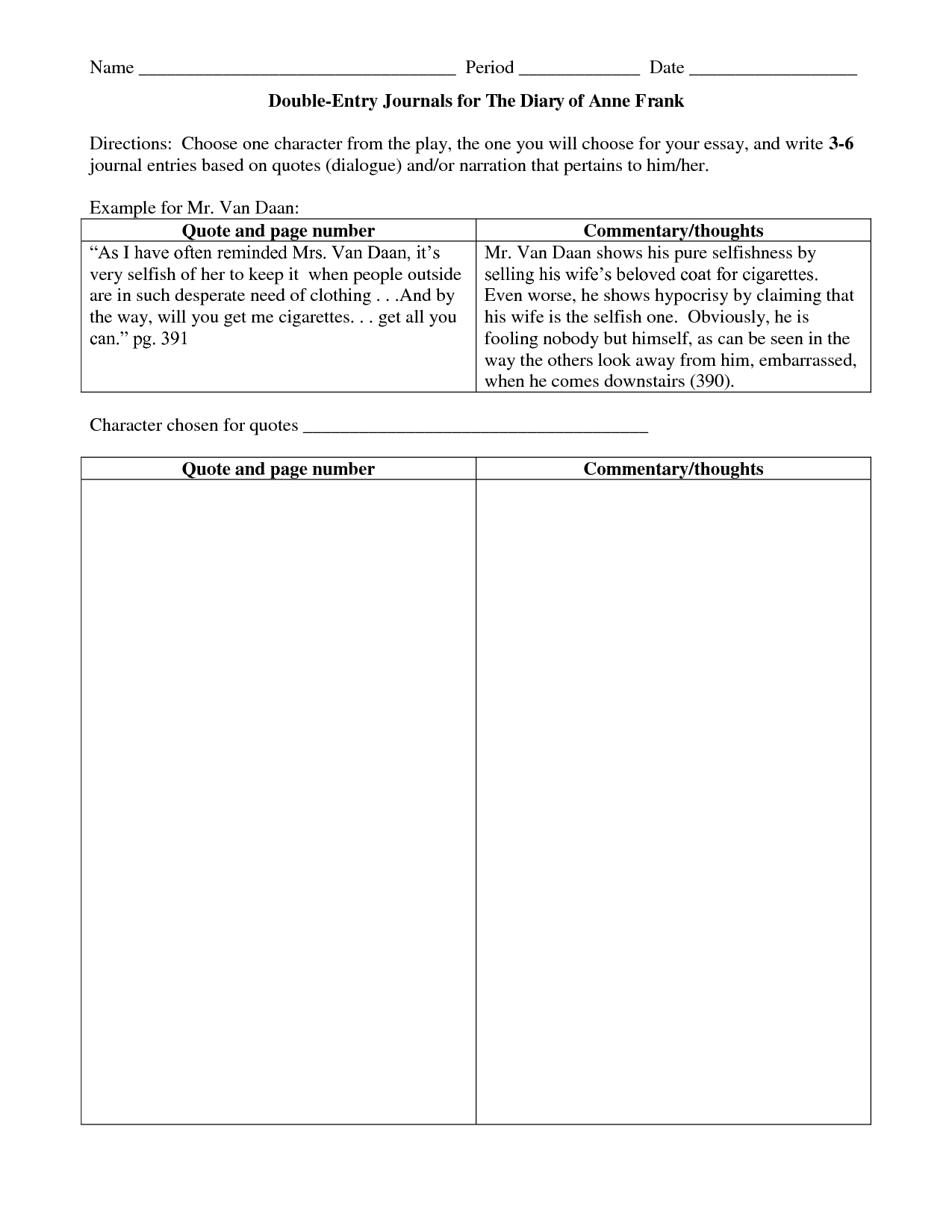 Double Entry Journals Examples | Double Entry Journal, Diary Within Double Entry Journal Template For Word