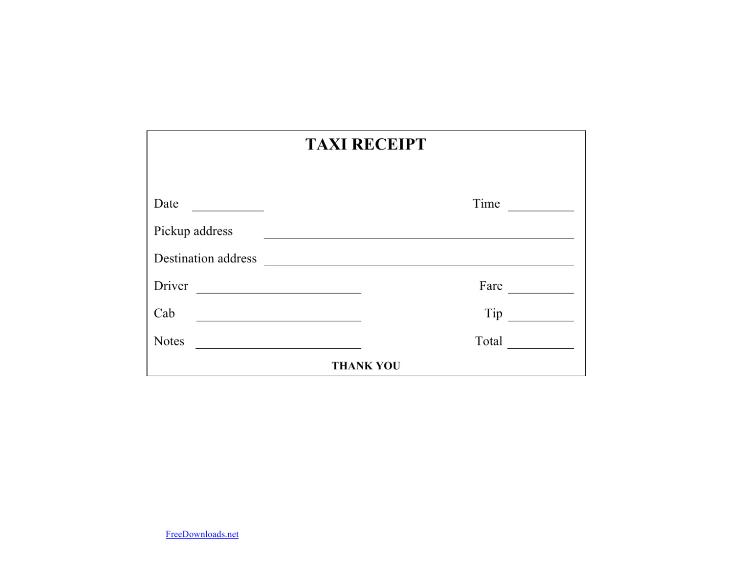 Download Blank Printable Taxi Cab Receipt Template Excel Intended For Blank Taxi Receipt Template