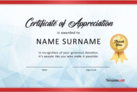 Download Certificate Of Appreciation For Donation 03 with regard to Thanks Certificate Template